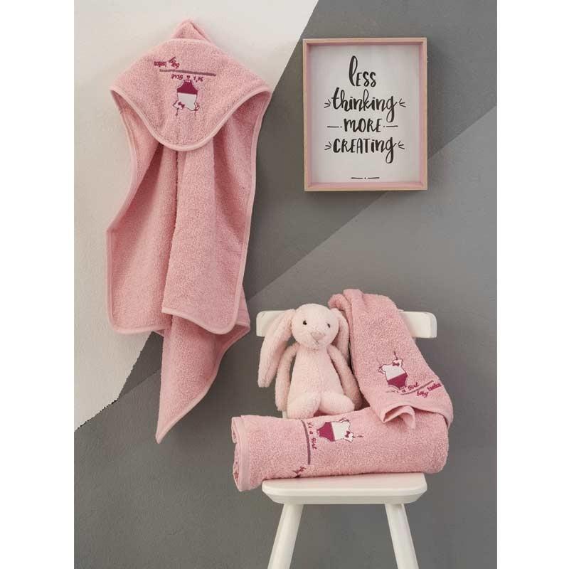 Σετ πετσέτες βρεφικές 2τμχ Makis Tselios home Signora