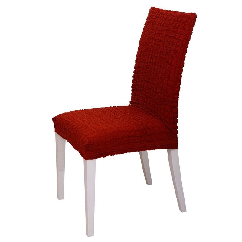 Κάλυμμα Καρέκλας Ελαστικό Viopros Σχ. Casual Χρ. Τερρακότα 67200805020
