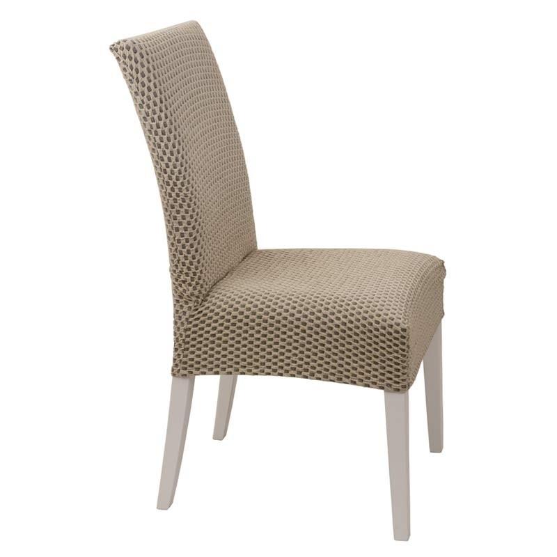 Κάλυμμα Καρέκλας Ελαστικό Viopros Σχ. Σίλβερ Χρ. Μπεζ 67201180020