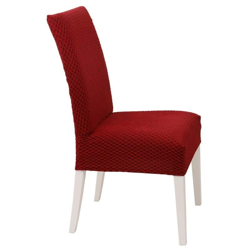 Κάλυμμα Καρέκλας Ελαστικό Viopros Σχ. Σίλβερ Χρ. Μπορντώ 67201180020
