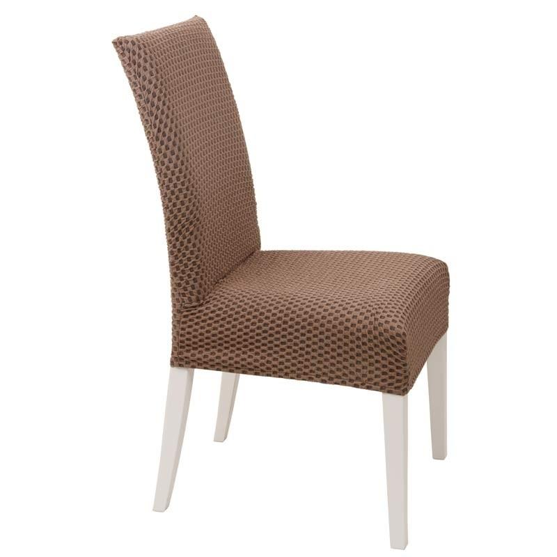 Κάλυμμα Καρέκλας Ελαστικό Viopros Σχ. Σίλβερ Χρ. Σοκολά 67201180020