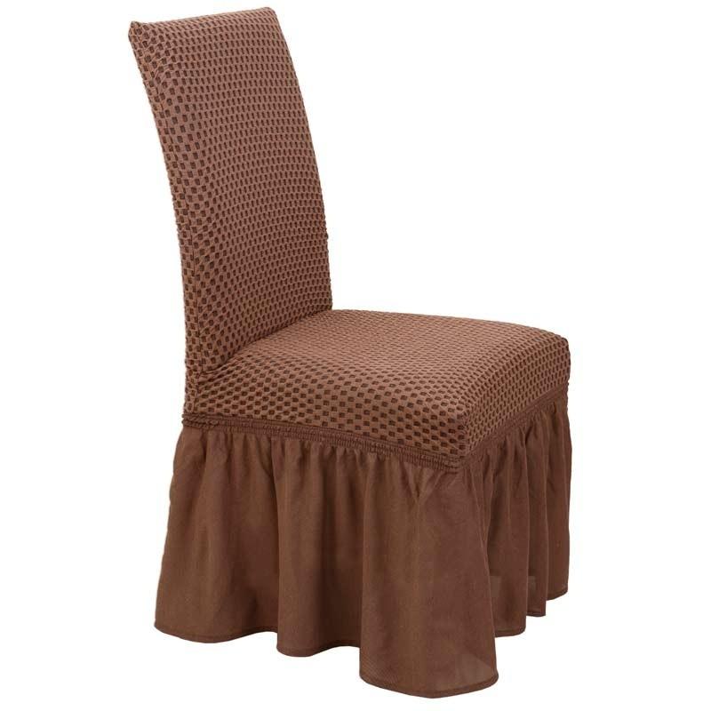 Κάλυμμα Καρέκλας Ελαστικό Viopros Σχ. Σίλβερ Χρ. Σοκολά 67101350020