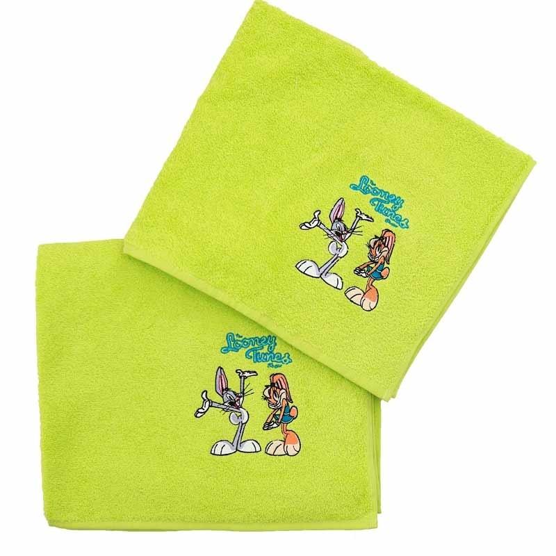 Σετ Πετσέτες Παιδικές 2τμχ Viopros Σχ. Looney Tunes 0290120020