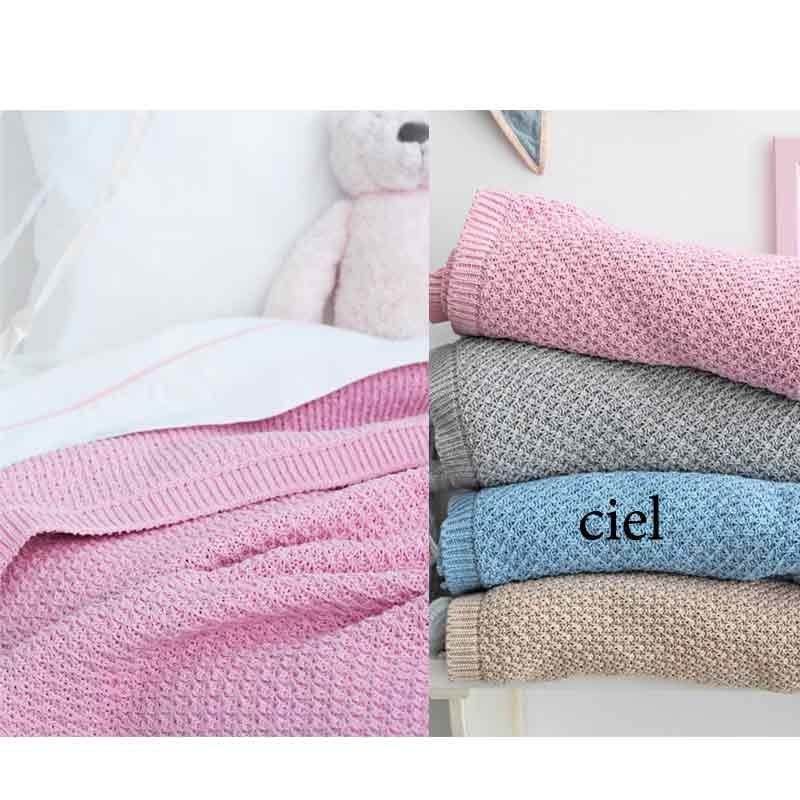 Κουβέρτα Αγκαλιάς Πλεκτή Palamaiki Knitted Collection Sia Ciel