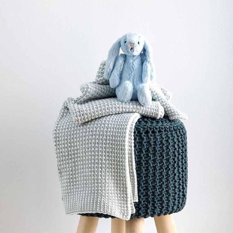 Κουβέρτα Αγκαλιάς Πλεκτή Βρεφική Sb Home Sirena Blue 05.00235