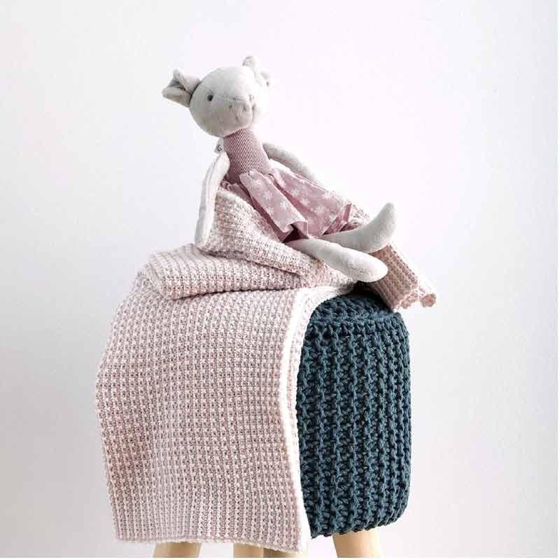 Κουβέρτα Αγκαλιάς Πλεκτή Βρεφική Sb Home Sirena Pink 05.00234