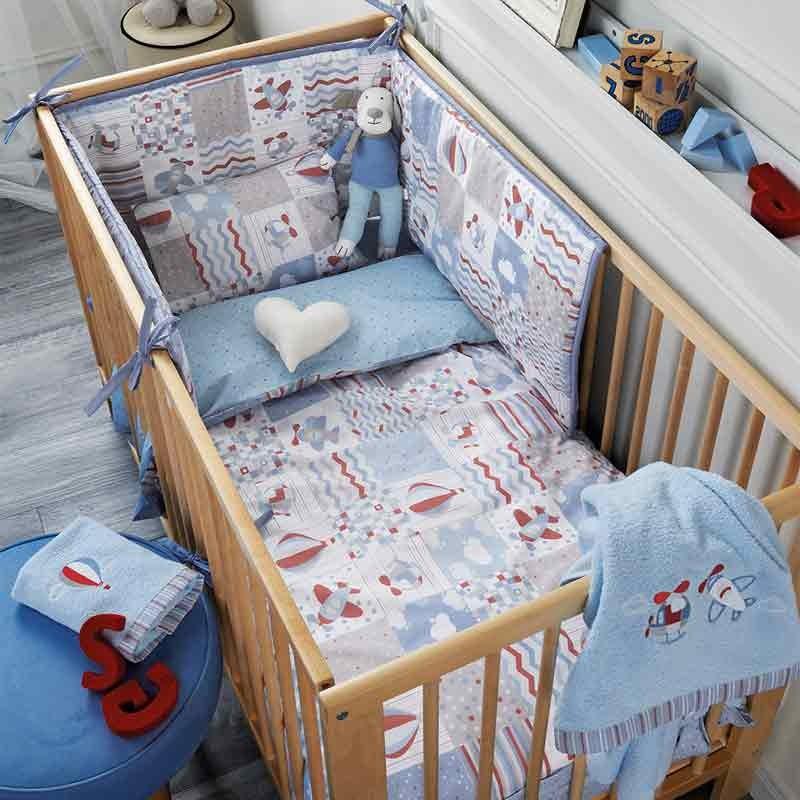Σετ Παπλωματοθήκη για μωρά Kentia Sky