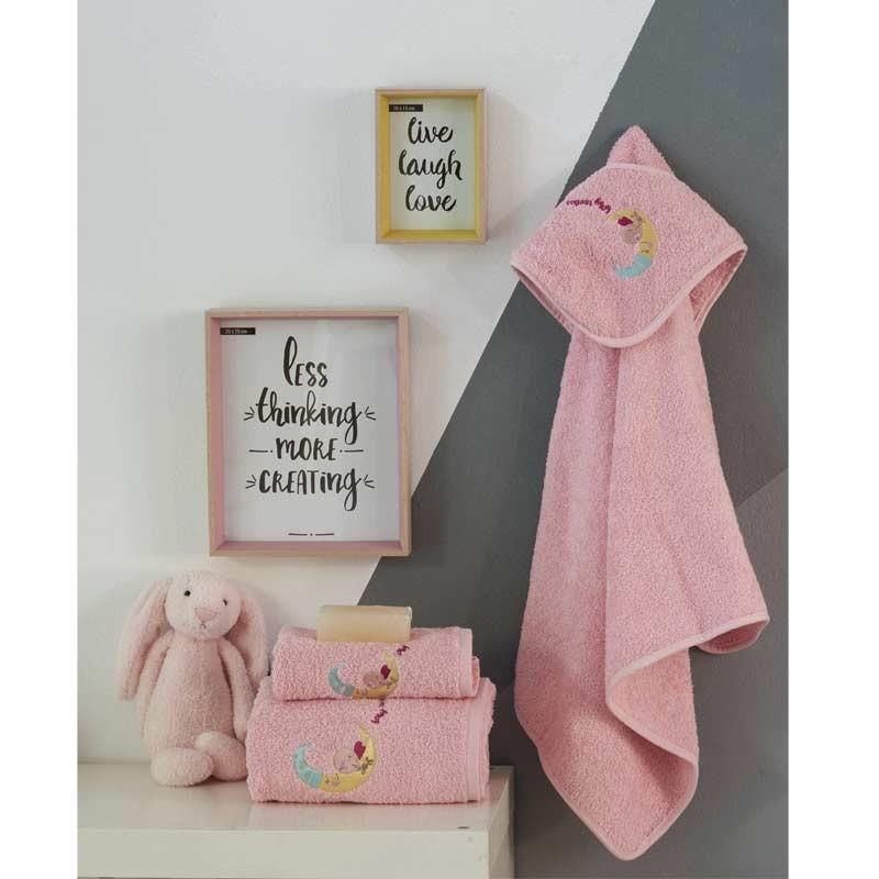 Σετ πετσέτες βρεφικές 2τμχ Makis Tselios home Sleepgirl