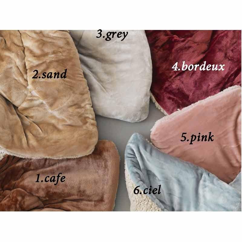 Κουβερτοπάπλωμα Υπέρδιπλο Palamaiki Flannel Fleece Collection Sloop Ciel