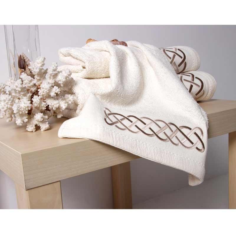 Σετ Πετσέτες 3τμχ Sb Home Snake Towels Cream 02.00496