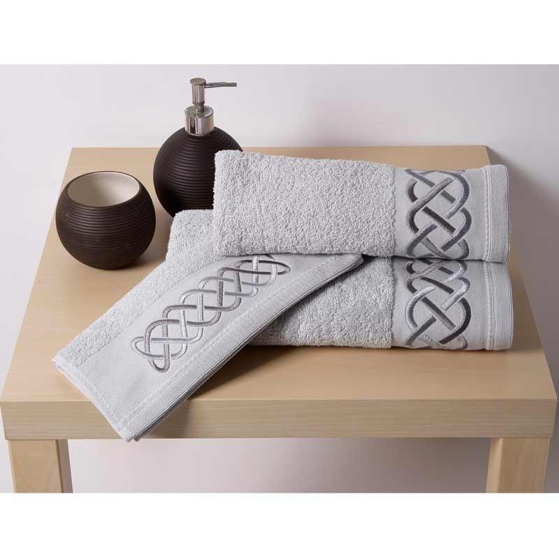 Σετ Πετσέτες 3τμχ Sb Home Snake Towels Silver 02.00497