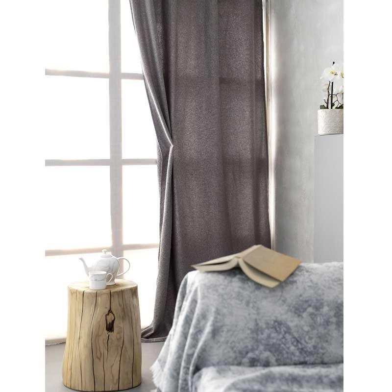 Κουρτίνα με κρίκους (140x260) Palamaiki HOME Soho Grey 5205857191078