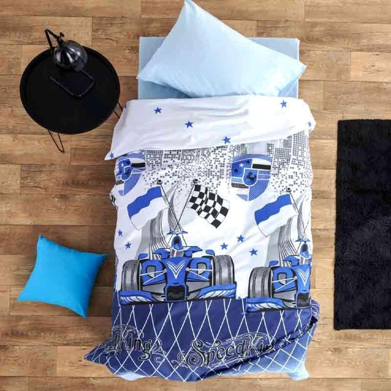 Σετ Σεντόνια Παιδικά Μονά Sb Home Speed Blue 01.02085
