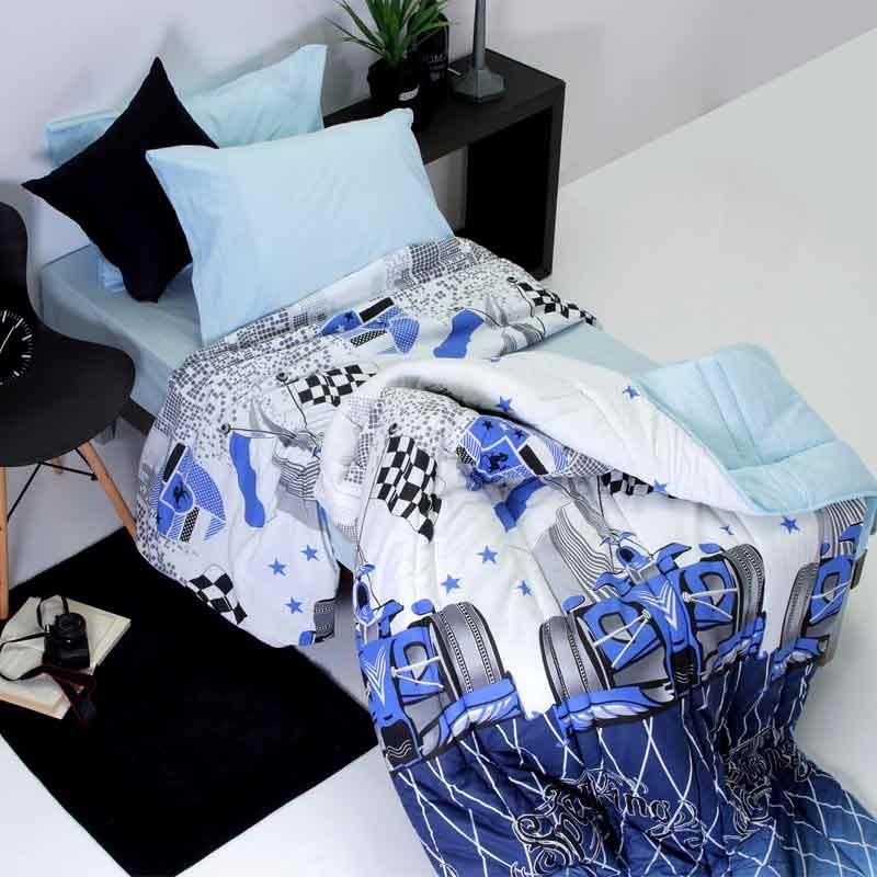Παπλωματοθήκη Παιδική Μονή Sb Home Junior Collection Speed Blue 01.01905