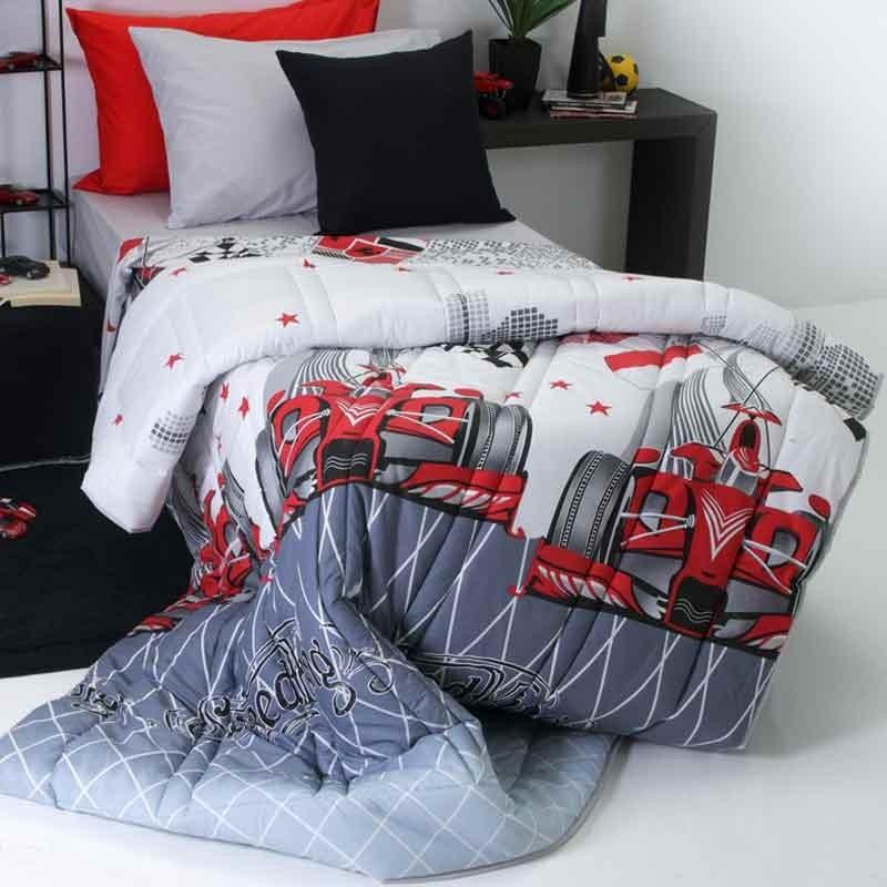 Παπλωματοθήκη Παιδική Μονή Sb Home Junior Collection Speed Red 01.01907