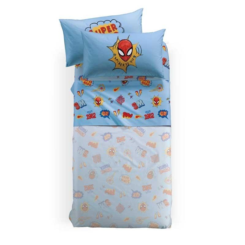 Σετ Σεντόνια Παιδικά Ημίδιπλα (με λάστιχο) Palamaiki HOME Disney Spiderman New York 8000842778893