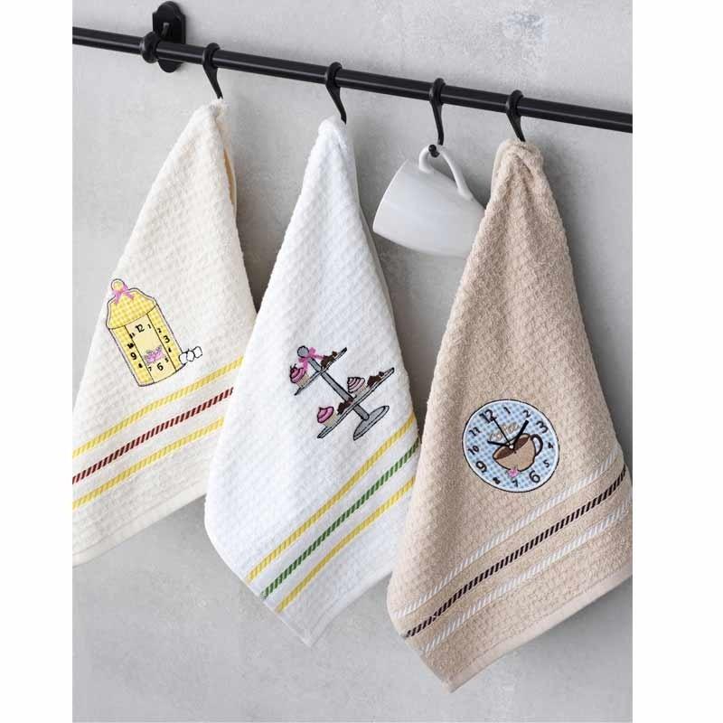 Σετ Πετσέτες κουζίνας 3τμχ (40x60) Palamaiki Kitchen Collection Square