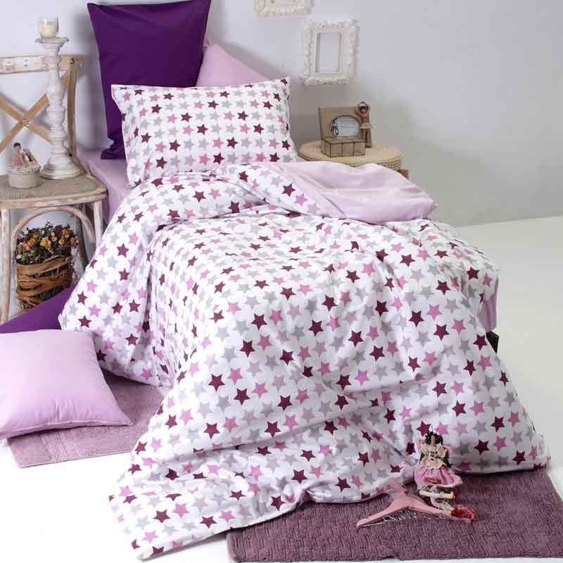 Παπλωματοθήκη Παιδική Μονή Sb Home Junior Collection Stars Lilac 01.01898