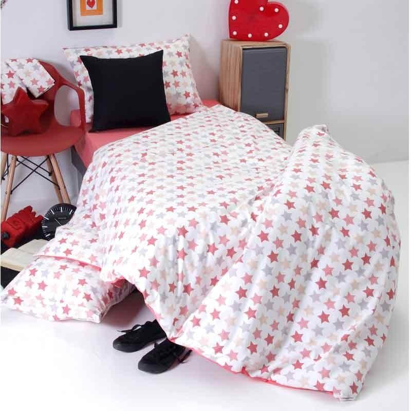 Παπλωματοθήκη Παιδική Μονή Sb Home Junior Collection Stars Pink 01.01890