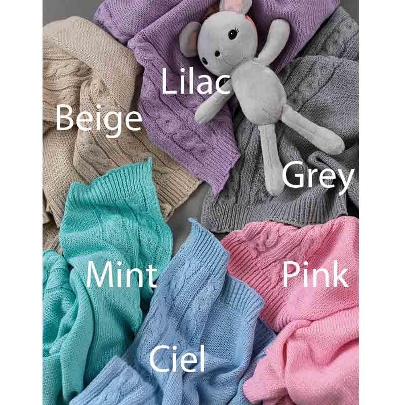 Κουβέρτα Αγκαλιάς Πλεκτή Βρεφική Palamaiki HOME Tail Lilac 5205857190521