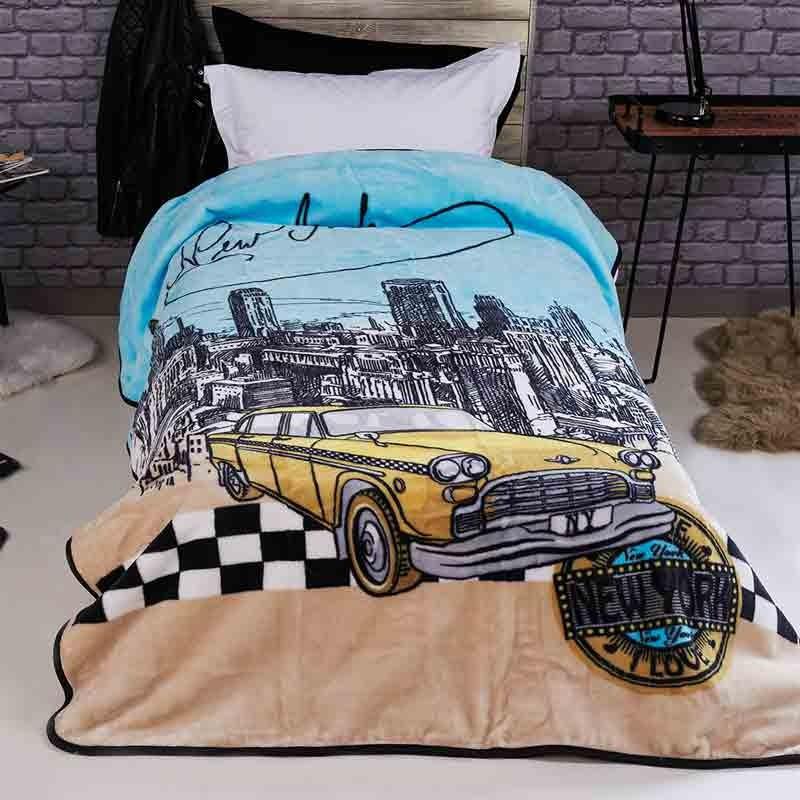 Παιδική Κουβέρτα Βελουτέ Μονή Kentia Taxi