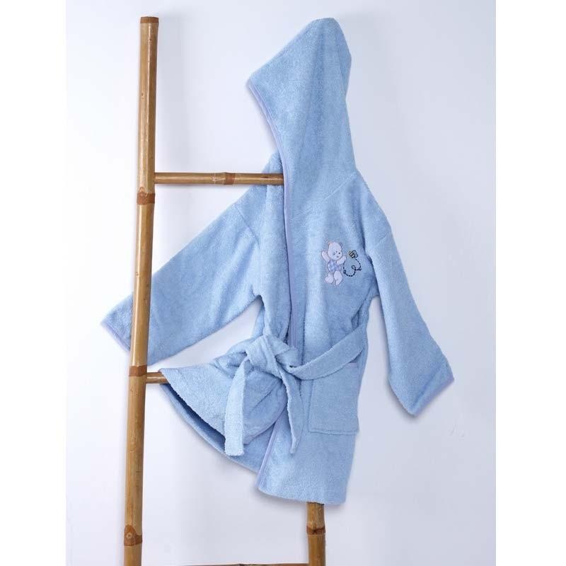 Μπουρνούζι Βρεφικό (No 4) Sb Home Teddy Bear Blue 05.00194