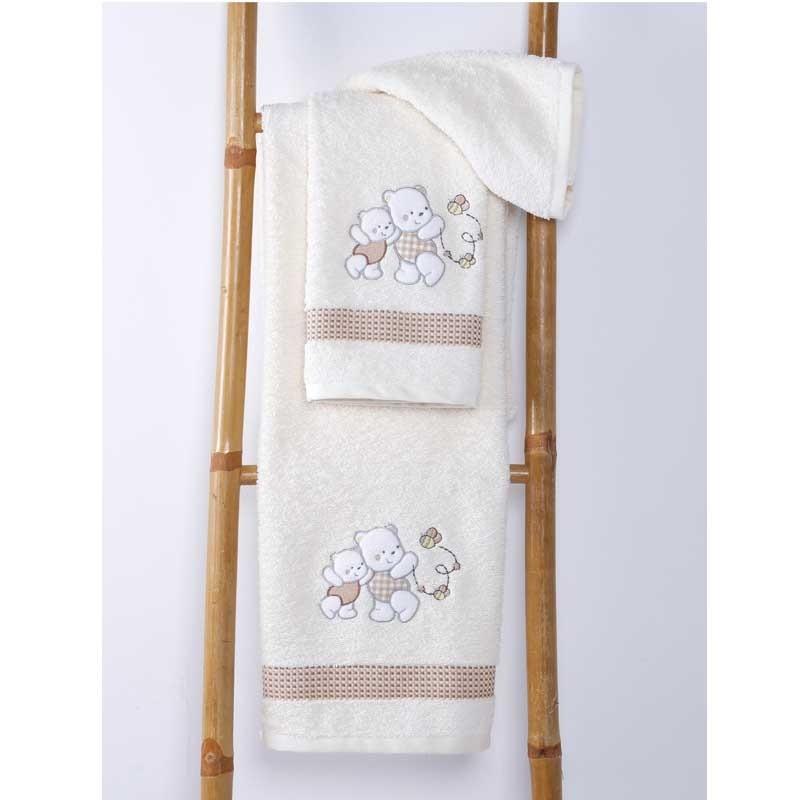 Σετ Πετσέτες Βρεφικές Sb Home Teddy Bear Cream 05.00102