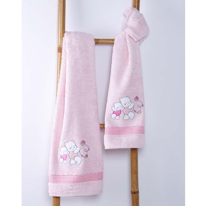 Σετ Πετσέτες Βρεφικές Sb Home Teddy Bear Pink 05.00100