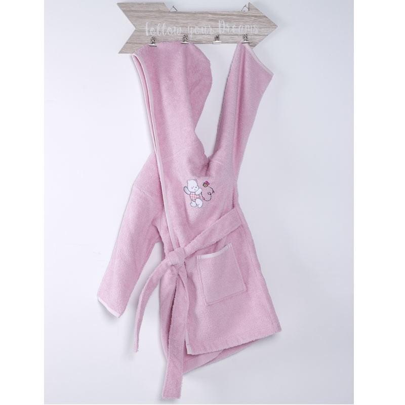 Μπουρνούζι Βρεφικό (No 2) Sb Home Teddy Bear Pink 05.00192