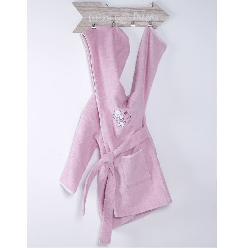 Μπουρνούζι Βρεφικό (No 4) Sb Home Teddy Bear Pink 05.00195