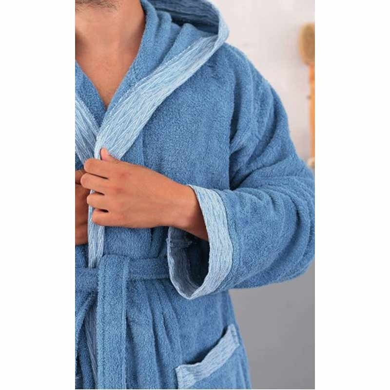 Μπουρνούζι με κουκούλα (Medium) Palamaiki Cruz Blue 5205857178086