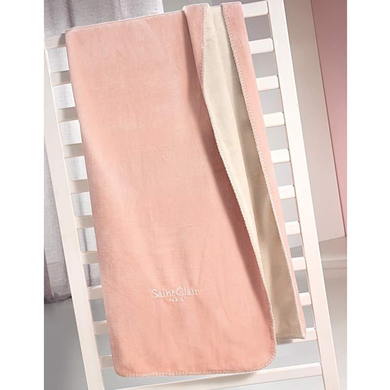 Βρεφική Κουβέρτα Κούνιας Fleece Saint Clair Paris Tresor Pinky
