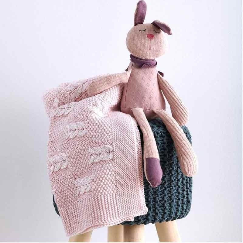 Κουβέρτα Αγκαλιάς Πλεκτή Βρεφική Sb Home Tress Pink 05.00232