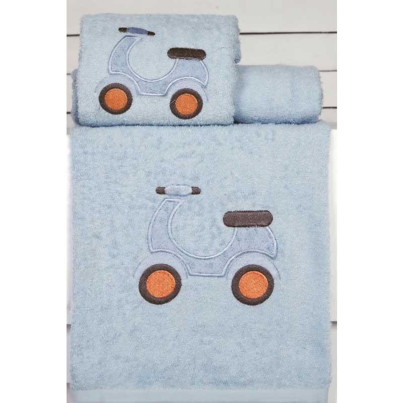 Σετ Πετσέτες Βρεφικές 2τμχ Palamaiki Kids Towels Vespa