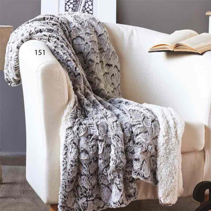 Κουβέρτα Fleece Καναπέ Kentia Warmy 151