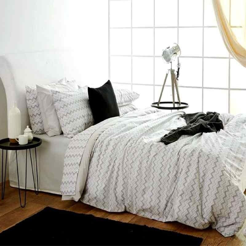Κουβερλί Μονό Sb Home Waves Grey 01.02017
