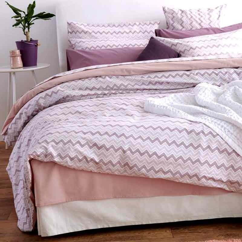 Κουβερλί Μονό Sb Home Waves Pink 01.02012