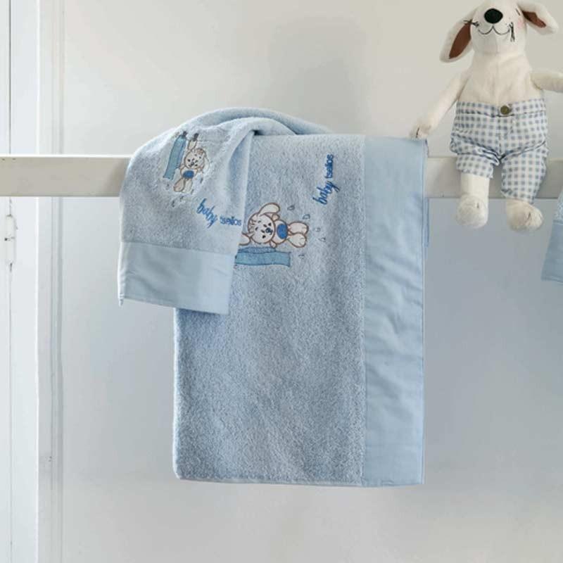 Σετ πετσέτες βρεφικές 2τμχ Makis Tselios home Wet