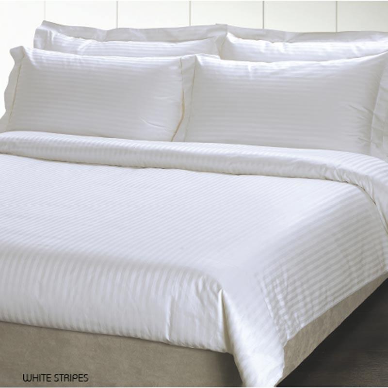 Παπλωματοθήκη Ημίδιπλη Palamaiki White Comfort White Stripes