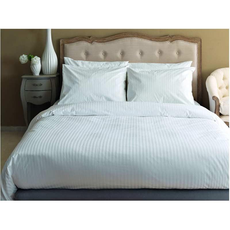 Σεντόνι τμχ Υπέρδιπλο (Flat) Palamaiki White Comfort White Stripes