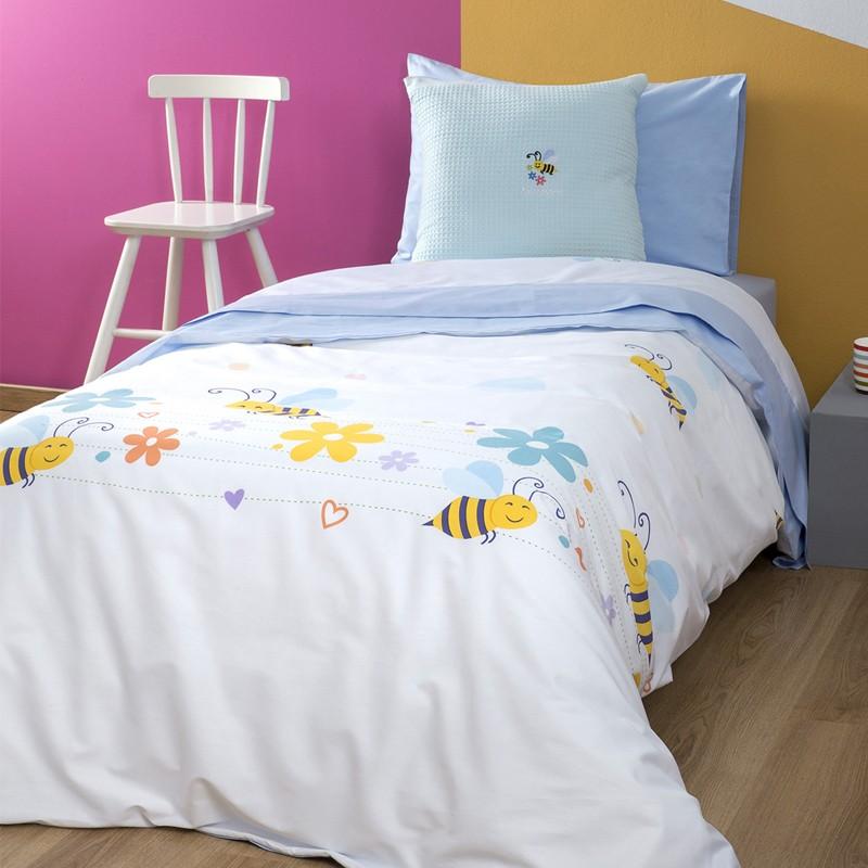 Σετ Παιδική Παπλωματοθήκη Zouzounia, με σχέδιο Μέλισσα ZOU-BD-031